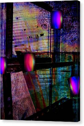 Urban Complexities Canvas Print by Shirley Sirois
