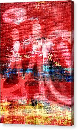 Urban Graffiti Abstract Color Canvas Print by Edward Fielding