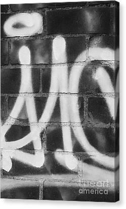 Urban Graffiti Abstract Concord 2015 Canvas Print by Edward Fielding