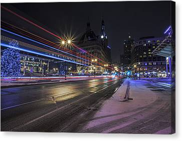 Urban Holiday  Canvas Print by CJ Schmit