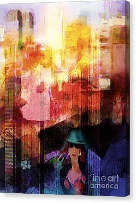 Urban Life Canvas Print by Lutz Baar
