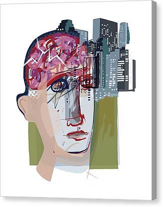 Urban Mental Health Canvas Print by Paul Brown