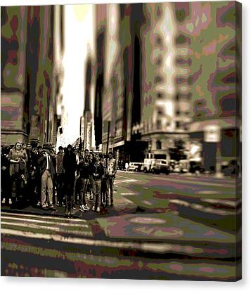 Urban Poster Canvas Print by Dan Sproul