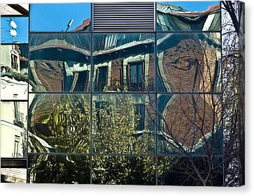 Urban Reflections Madrid Canvas Print by Frank Tschakert