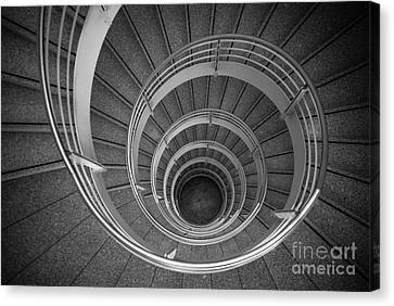 urban spiral - gray II Canvas Print by Hannes Cmarits