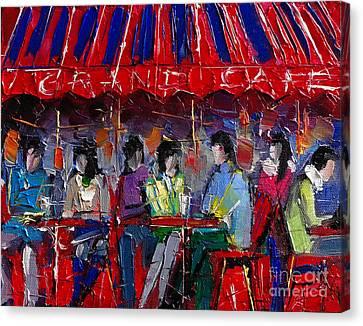 Urban Story - Grand Cafe Canvas Print by Mona Edulesco