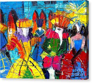 Urban Story - The Carnival 2 Canvas Print by Mona Edulesco
