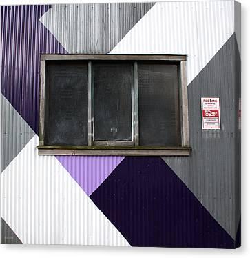 Urban Window- Photography Canvas Print by Linda Woods