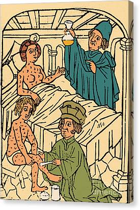 Uroscopy Patients With Syphilis 1497 Canvas Print by Science Source