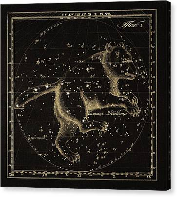 Ursa Major Constellation, 1829 Canvas Print by Science Photo Library