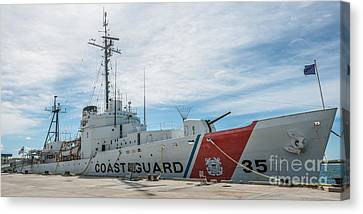 Us Coast Guard Cutter Ingham Whec-35 - Key West - Florida - Panoramic Canvas Print by Ian Monk