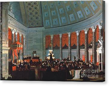 U.s. Congress - House Canvas Print by Granger