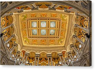 Us Library Of Congress Canvas Print by Susan Candelario