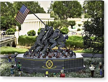 Us Marine Corps War Memorial Canvas Print by Ricky Barnard