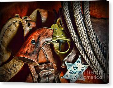 Us Marshal  Lawman Canvas Print by Paul Ward