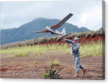 Us Military Surveillance Drone Canvas Print by Us Navy