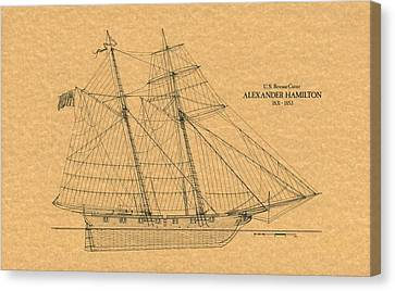 U.s. Revenue Cutter Alexander Hamilton Canvas Print by Retro Images Archive