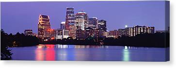 Us, Texas, Austin, Skyline, Night Canvas Print by Panoramic Images