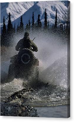 Usa, Alaska, Park Ranger, All Terrain Canvas Print by Gerry Reynolds