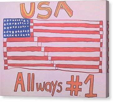 Usa Always #1  Canvas Print by Howard Yosha