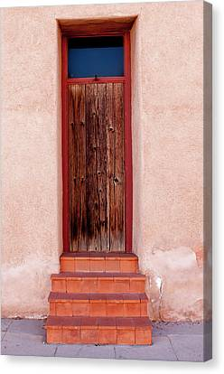 Usa, Arizona, Tucson, Barrio Vijo Door Canvas Print by Peter Hawkins