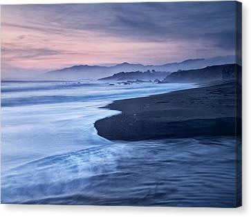 Usa, California, Cambria, Dusk Canvas Print by Ann Collins