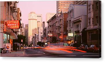 Usa, California, San Francisco, Evening Canvas Print by Panoramic Images
