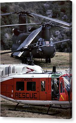 Usa, California, Search And Rescue Canvas Print by Gerry Reynolds