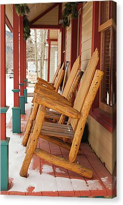 Usa, Colorado, Crested Butte, Rocking Canvas Print by Walter Bibikow