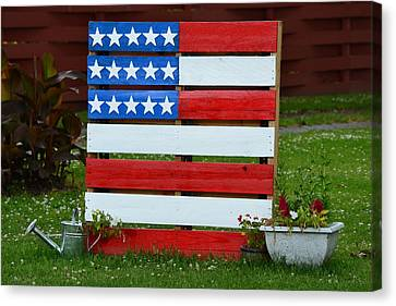 Usa Flag Canvas Print by Kim Stafford