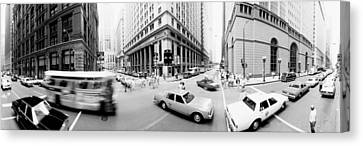 Usa, Illinois, Chicago, Vehicles Canvas Print by Panoramic Images
