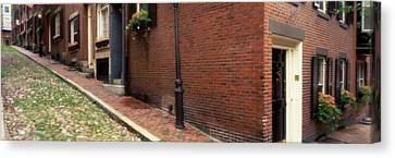 Usa, Massachusetts, Boston, Beacon Hill Canvas Print by Panoramic Images