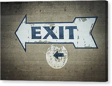 Usa, Mississippi, Exit Sign In Great Canvas Print by Dosfotos