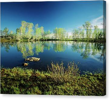 Usa, Oregon, Steens Mountain National Canvas Print by Scott T. Smith