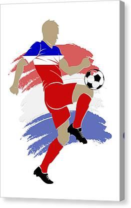 Usa Soccer Player Canvas Print by Joe Hamilton