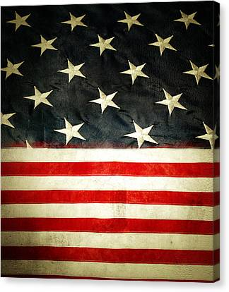Usa Stars And Stripes Canvas Print by Les Cunliffe