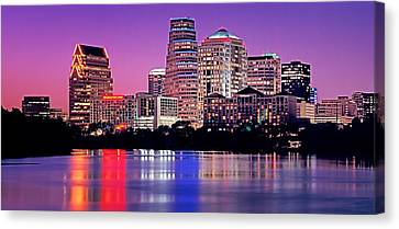 Usa, Texas, Austin, View Of An Urban Canvas Print by Panoramic Images