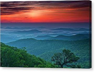 Usa, Virginia, Franklin Cliff Overlook Canvas Print by Jaynes Gallery