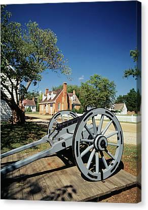 Usa, Virginia, Yorktown, Cannon Canvas Print by Walter Bibikow