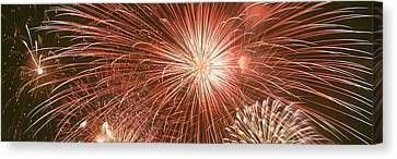 Usa, Wyoming, Jackson, Fireworks Canvas Print by Panoramic Images