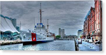 Uscgc Taney Canvas Print by Mike Baltzgar