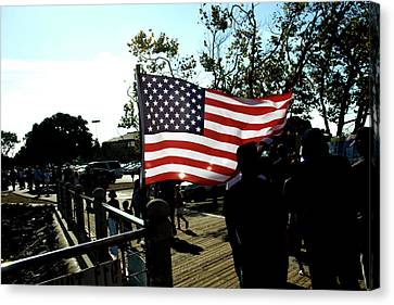U.s.flag Canvas Print by Terry Thomas