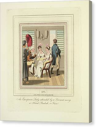 Using A Punkah Canvas Print by British Library