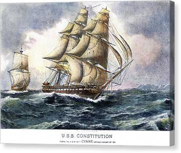Uss Constitution, 1815 Canvas Print by Granger