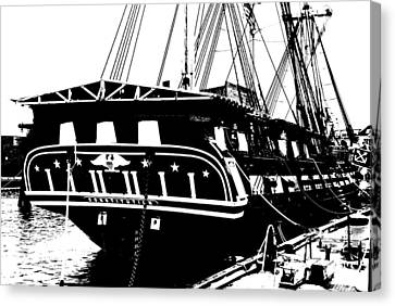 Uss Constitution Canvas Print by Charlie and Norma Brock