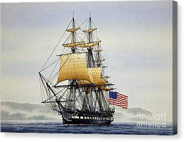 Uss Constitution Canvas Print by James Williamson