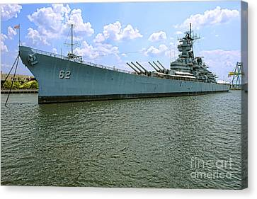 Uss New Jersey Canvas Print by Olivier Le Queinec