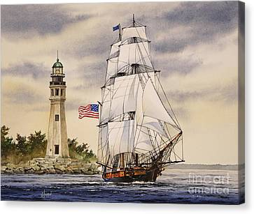 Uss Niagara Canvas Print by James Williamson
