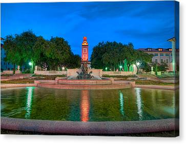 Ut Tower '09 Canvas Print by Preston Broadfoot