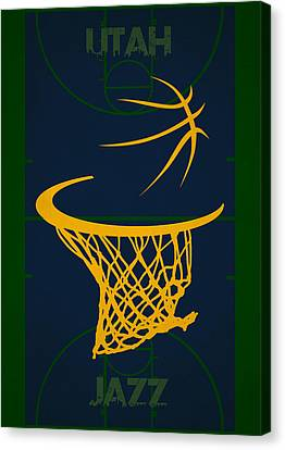 Utah Jazz Court Canvas Print by Joe Hamilton